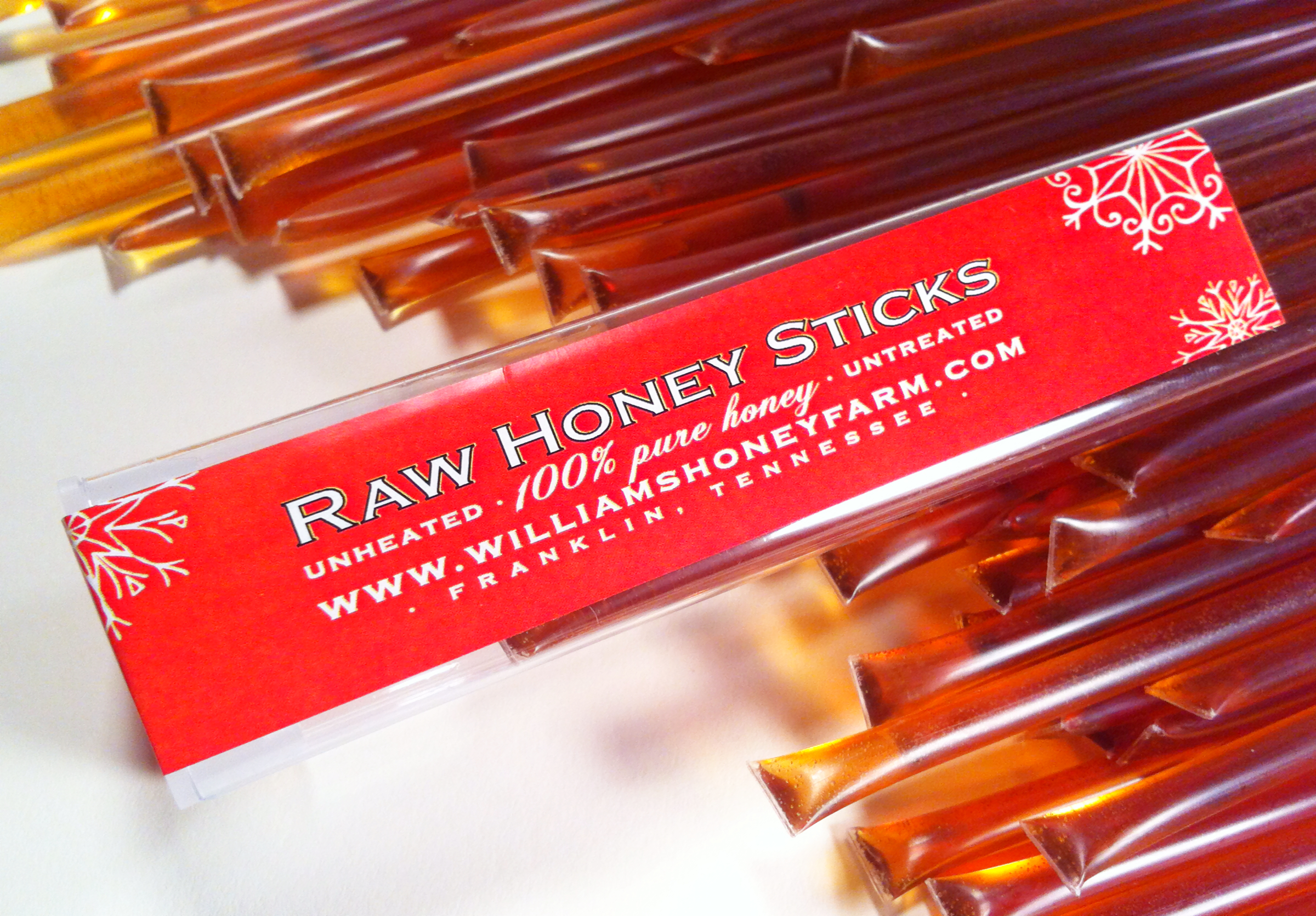 holiday honey straws