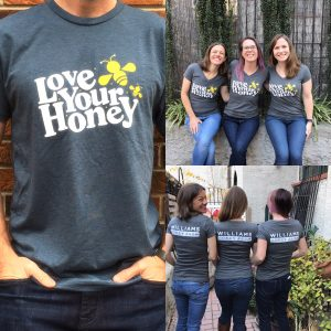Love your honey t-shirt for men women and youth